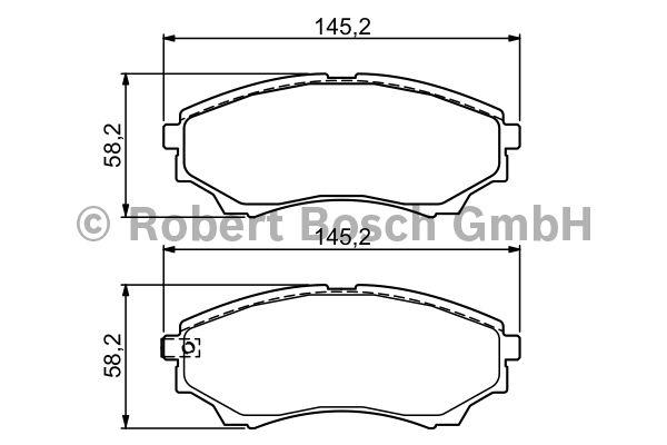 Kit de plaquettes de frein, frein à disque - BOSCH - 0 986 494 323