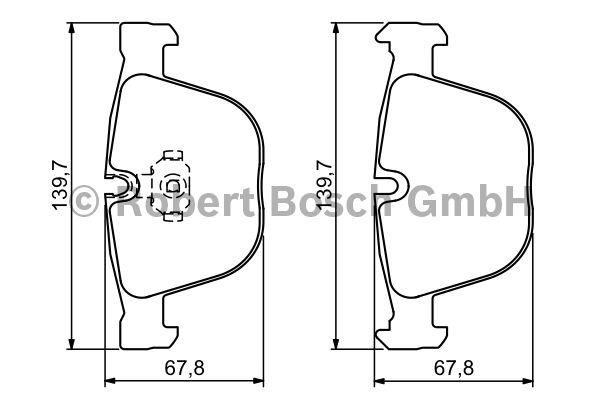 Kit de plaquettes de frein, frein à disque - BOSCH - 0 986 494 325