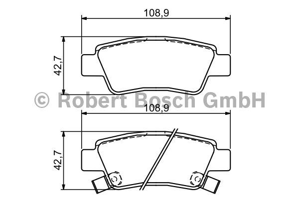 Kit de plaquettes de frein, frein à disque - BOSCH - 0 986 494 329