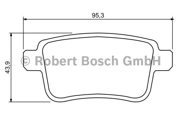 Kit de plaquettes de frein, frein à disque - BOSCH - 0 986 494 331