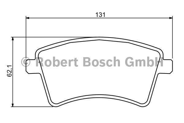 Kit de plaquettes de frein, frein à disque - BOSCH - 0 986 494 332