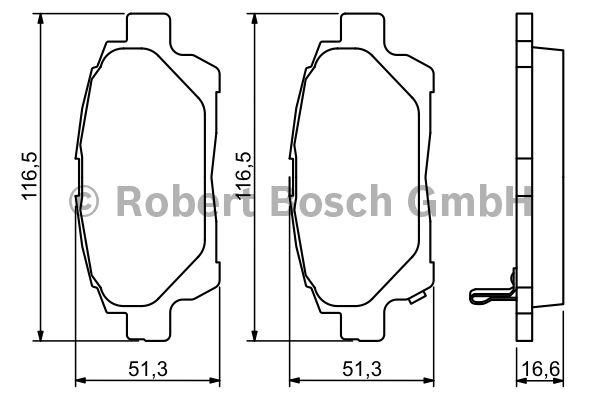 Kit de plaquettes de frein, frein à disque - BOSCH - 0 986 494 333