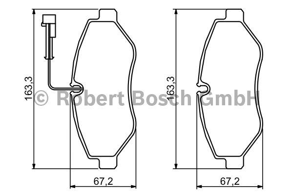 Kit de plaquettes de frein, frein à disque - BOSCH - 0 986 494 334