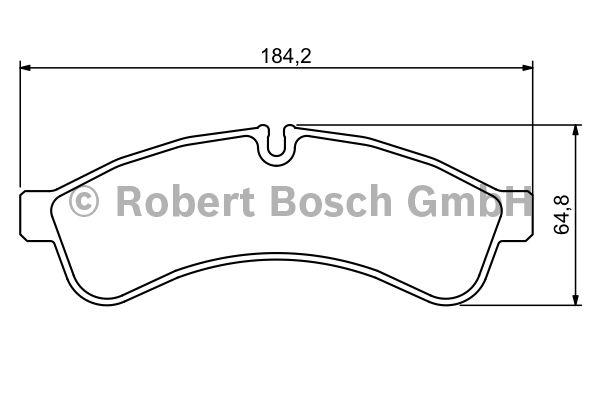 Kit de plaquettes de frein, frein à disque - BOSCH - 0 986 494 335