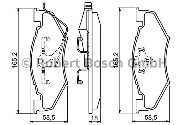 Kit de plaquettes de frein, frein à disque - BOSCH - 0 986 494 336