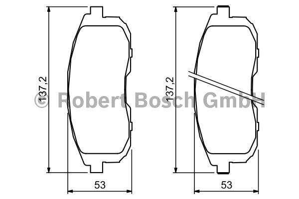 Kit de plaquettes de frein, frein à disque - BOSCH - 0 986 494 337