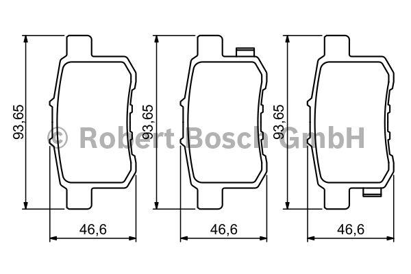Kit de plaquettes de frein, frein à disque - BOSCH - 0 986 494 338