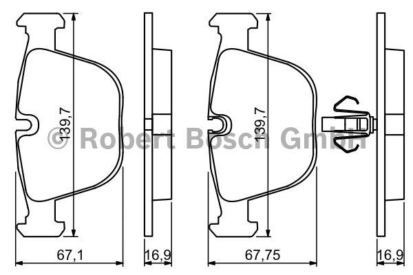 Kit de plaquettes de frein, frein à disque - BOSCH - 0 986 494 339