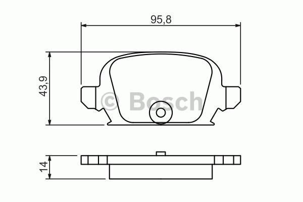 Kit de plaquettes de frein, frein à disque - BOSCH - 0 986 494 340