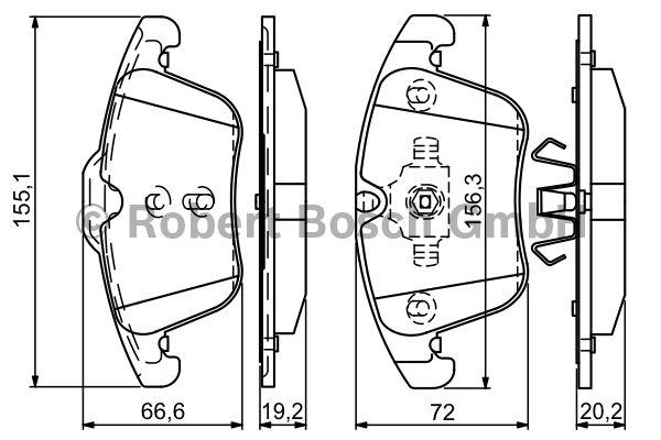 Kit de plaquettes de frein, frein à disque - BOSCH - 0 986 494 342
