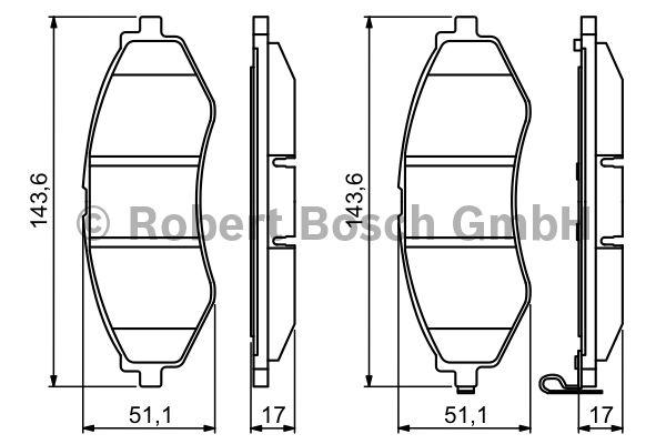 Kit de plaquettes de frein, frein à disque - BOSCH - 0 986 494 343