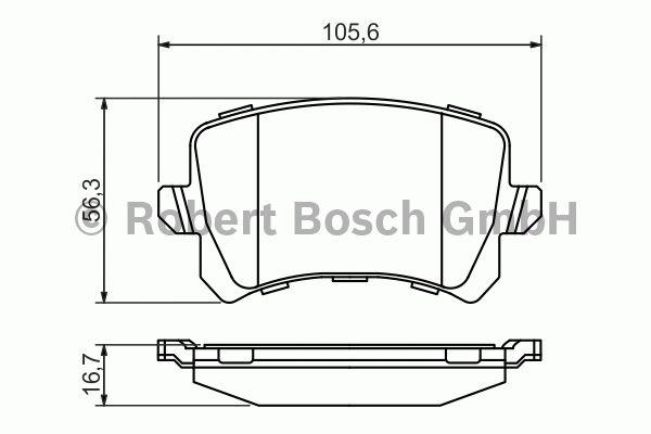 Kit de plaquettes de frein, frein à disque - BOSCH - 0 986 494 344