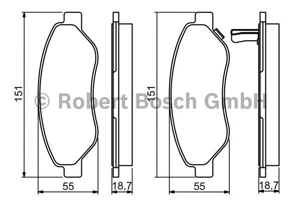 Kit de plaquettes de frein, frein à disque - BOSCH - 0 986 494 345