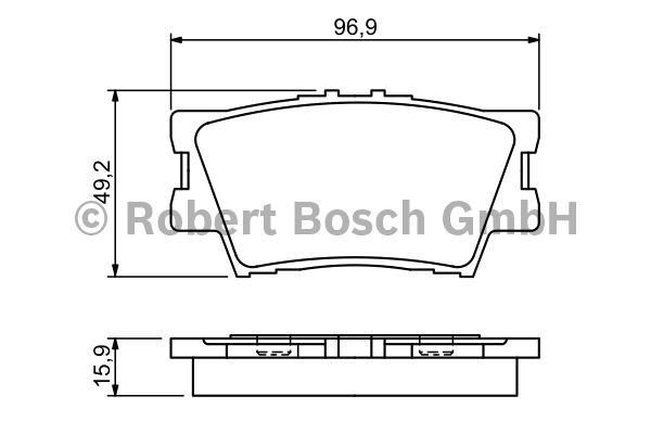 Kit de garnitures, frein à tambour - BOSCH - 0 986 494 346