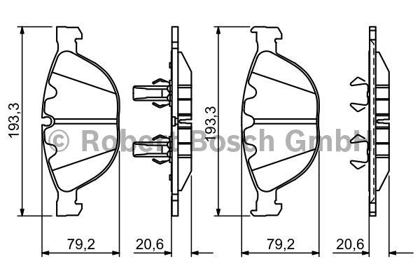 Kit de plaquettes de frein, frein à disque - BOSCH - 0 986 494 349
