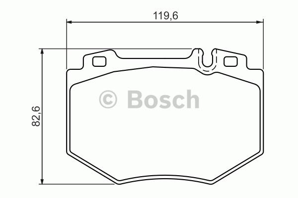 Kit de plaquettes de frein, frein à disque - BOSCH - 0 986 494 352