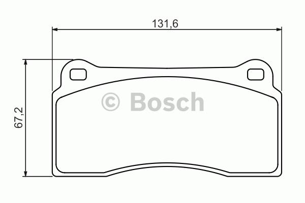 Kit de plaquettes de frein, frein à disque - BOSCH - 0 986 494 353