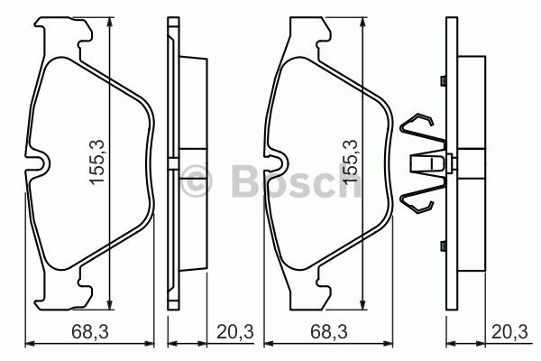 Kit de plaquettes de frein, frein à disque - BOSCH - 0 986 494 354
