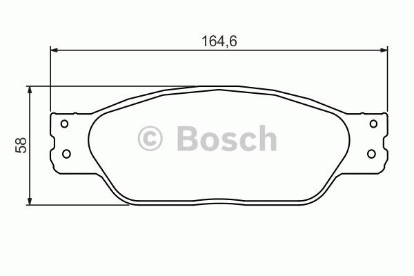 Kit de plaquettes de frein, frein à disque - BOSCH - 0 986 494 355