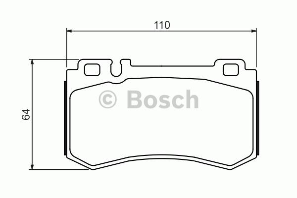 Kit de plaquettes de frein, frein à disque - BOSCH - 0 986 494 356