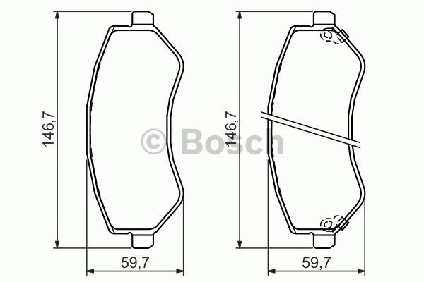 Kit de plaquettes de frein, frein à disque - BOSCH - 0 986 494 357