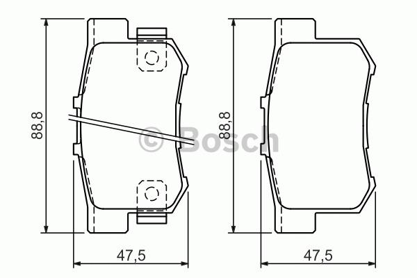 Kit de plaquettes de frein, frein à disque - BOSCH - 0 986 494 358