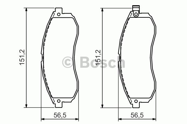 Kit de plaquettes de frein, frein à disque - BOSCH - 0 986 494 362