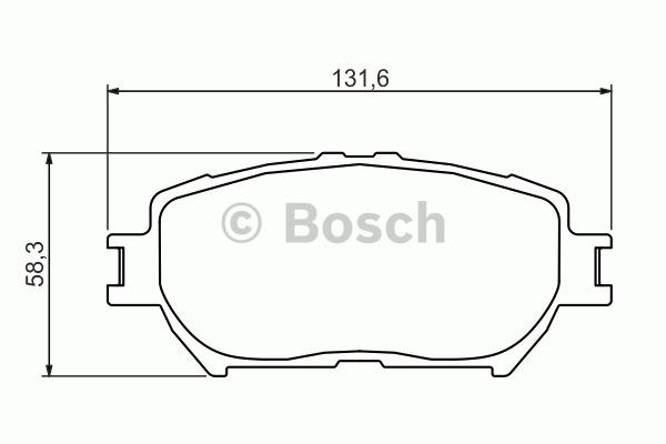 Kit de plaquettes de frein, frein à disque - BOSCH - 0 986 494 363