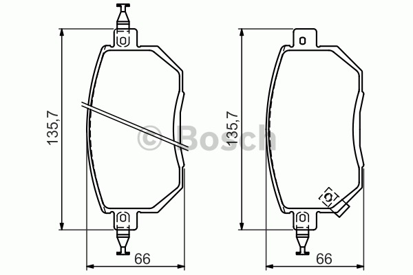 Kit de plaquettes de frein, frein à disque - BOSCH - 0 986 494 366