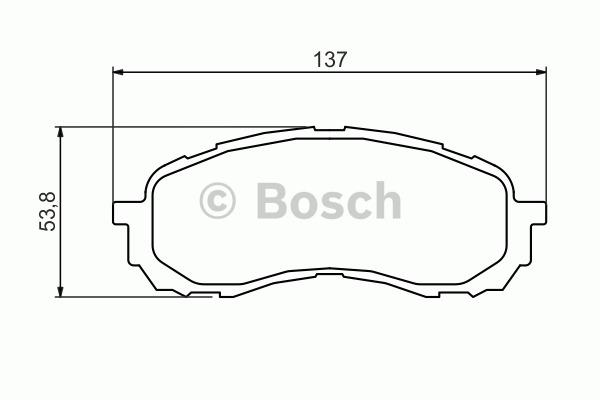 Kit de plaquettes de frein, frein à disque - BOSCH - 0 986 494 373