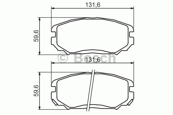 Kit de plaquettes de frein, frein à disque - BOSCH - 0 986 494 374
