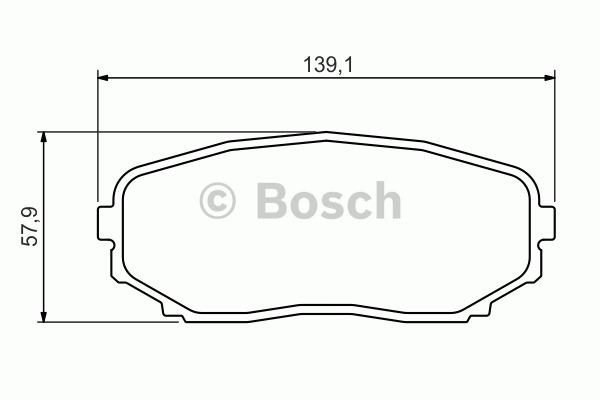 Kit de plaquettes de frein, frein à disque - BOSCH - 0 986 494 375