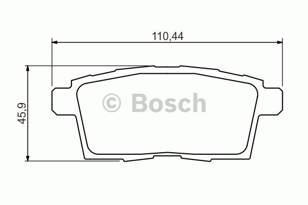 Kit de plaquettes de frein, frein à disque - BOSCH - 0 986 494 376