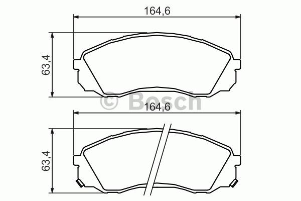 Kit de plaquettes de frein, frein à disque - BOSCH - 0 986 494 377
