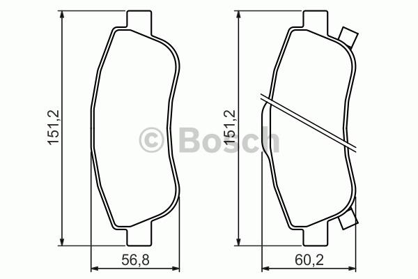 Kit de plaquettes de frein, frein à disque - BOSCH - 0 986 494 379