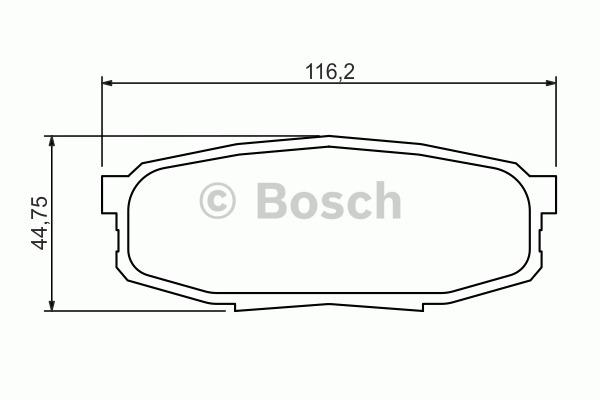 Kit de plaquettes de frein, frein à disque - BOSCH - 0 986 494 380