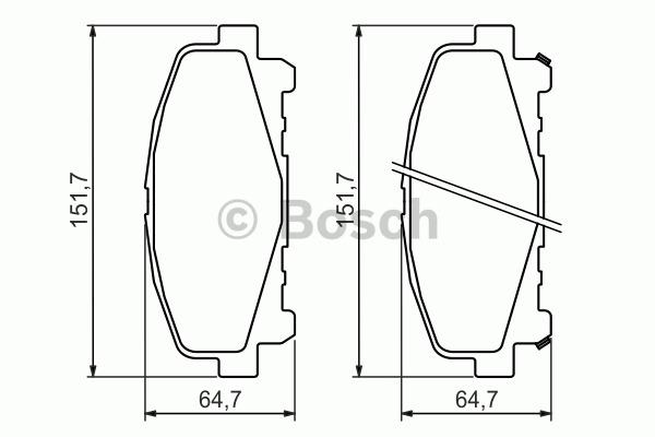 Kit de plaquettes de frein, frein à disque - BOSCH - 0 986 494 382