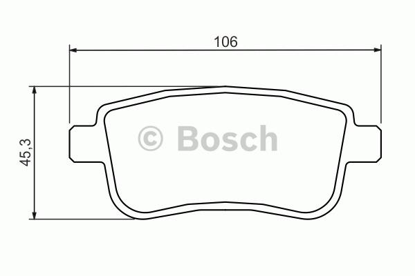 Kit de plaquettes de frein, frein à disque - BOSCH - 0 986 494 384