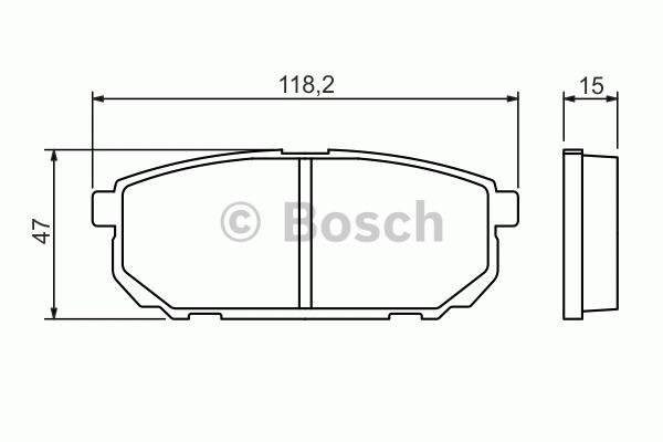 Kit de plaquettes de frein, frein à disque - BOSCH - 0 986 494 388