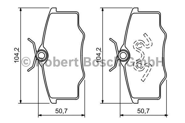 Kit de plaquettes de frein, frein à disque - BOSCH - 0 986 494 389