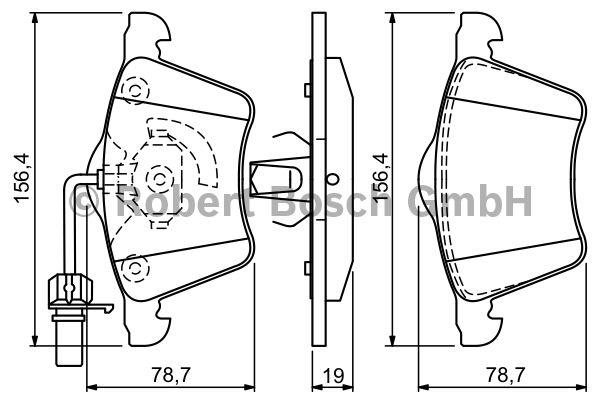 Kit de plaquettes de frein, frein à disque - BOSCH - 0 986 494 390