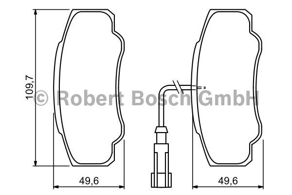 Kit de plaquettes de frein, frein à disque - BOSCH - 0 986 494 391