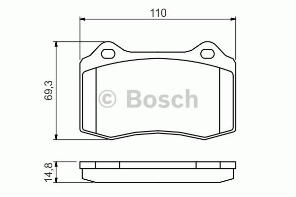 Kit de plaquettes de frein, frein à disque - BOSCH - 0 986 494 393