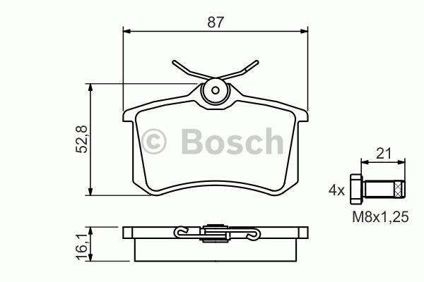Kit de plaquettes de frein, frein à disque - BOSCH - 0 986 494 399