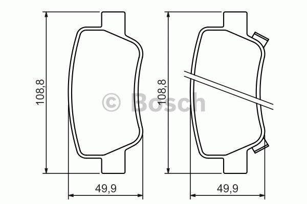 Kit de plaquettes de frein, frein à disque - BOSCH - 0 986 494 403