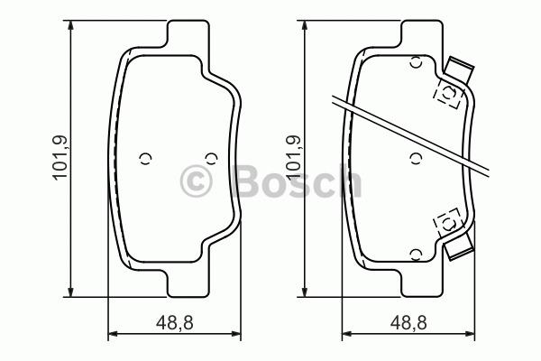 Kit de plaquettes de frein, frein à disque - BOSCH - 0 986 494 404