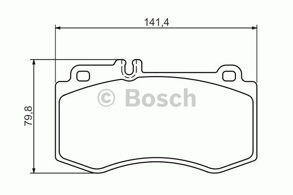 Kit de plaquettes de frein, frein à disque - BOSCH - 0 986 494 405