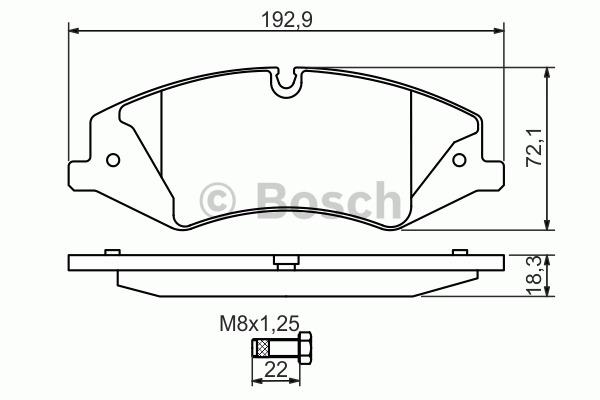 Kit de plaquettes de frein, frein à disque - BOSCH - 0 986 494 408