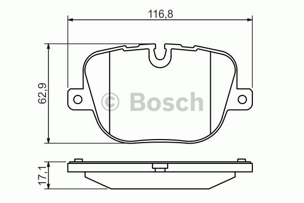 Kit de plaquettes de frein, frein à disque - BOSCH - 0 986 494 409