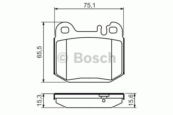 Kit de plaquettes de frein, frein à disque - BOSCH - 0 986 494 410